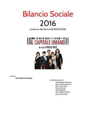 Studio Dentistico Balestro srl  Bilancio Sociale 2016 Norma SA8000:2008
