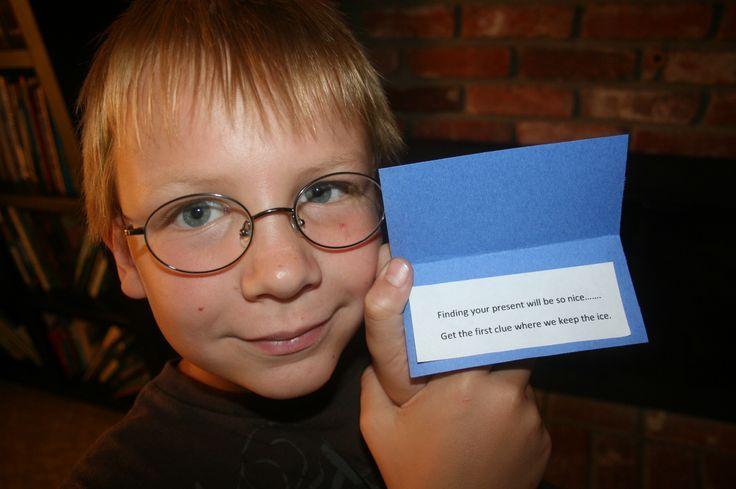 Birthday Treasure Scavenger Hunt ideas Leuk idee! Ga ik doen bij Constantyn zijn verjaardag volgend jaar. :)