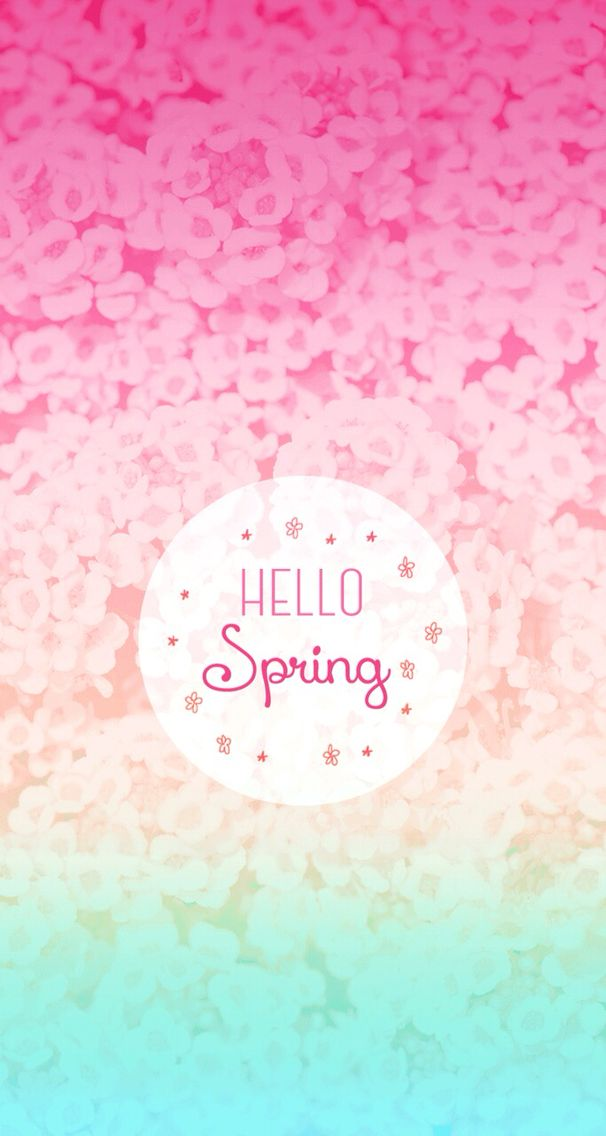 Hello Spring IPhone Wallpaper Background