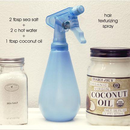 Hair texture spray DIY