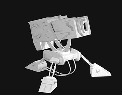 "Check out new work on my @Behance portfolio: ""Modelo 3D - Torreta"" http://on.be.net/1HQJaL5"