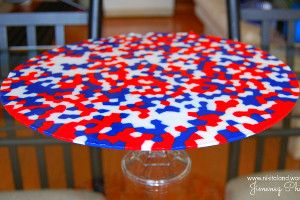 The Patriotic Platter takes no time or effort AT ALL! It is one of the easiest and coolest 4th of July craft ideas.