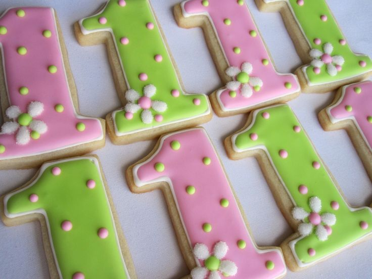 I'M NUMBER ONE Sugar Cookie Party Favors, 1 Dozen. $33.00, via Etsy.
