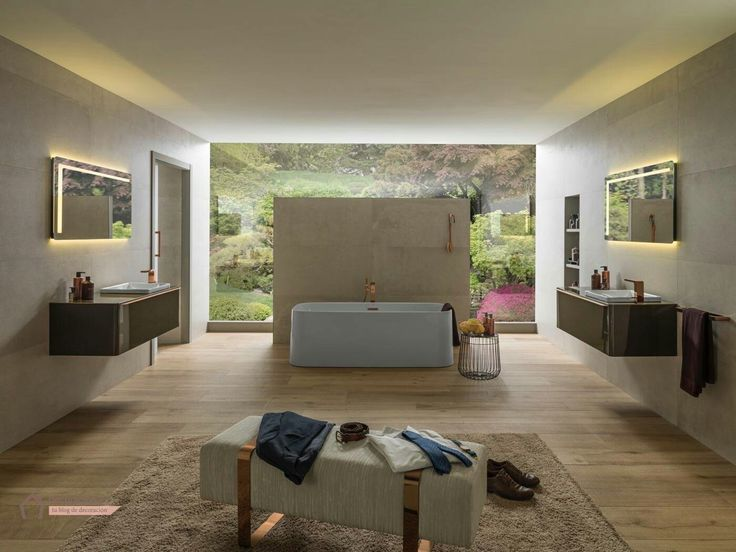 Spacious Bathrooms: How To Decorate Modern Bathrooms Where Space Is Not An  Issue