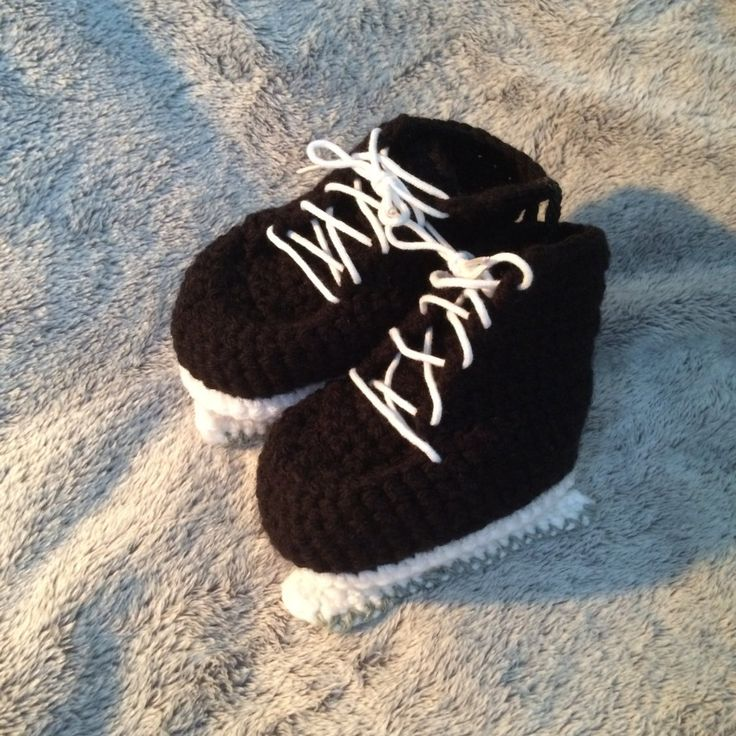 Crocheted baby blades to booties by FUNwithCROCHETnCLAY on Etsy