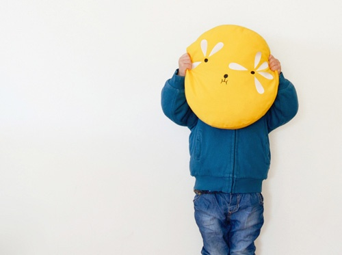 Fun pillows by Ana Ventura - perfect for a kids room