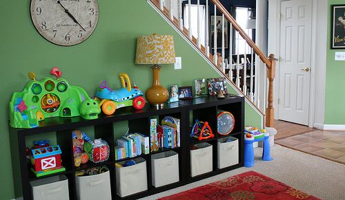 Toy organization for play room