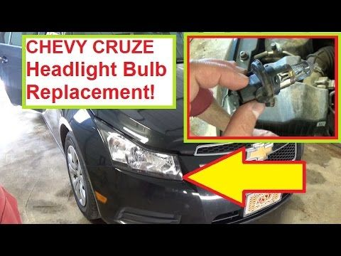 Chevrolet Cruze Headlight Bulb Replacement 2010 2011 2012 2013 2014 2015