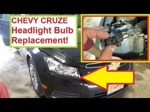 Chevrolet Cruze Headlight Bulb Replacement 2010 2011 2012 2013 2014 2015