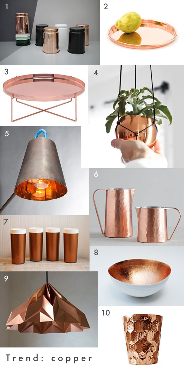17 Best Ideas About Copper Home Accessories On Pinterest Dark Grey Copper Wall And Blush Grey