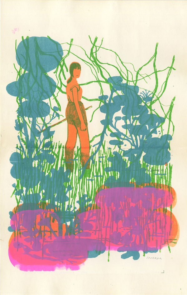 Josh Cochran. Silkscreen for Japan Benefit.