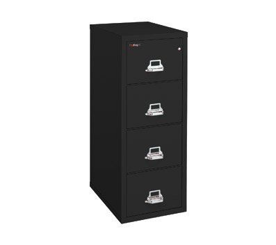 "FireKing Four-Drawer Fireproof Vertical File Cabinet, 25inch D, Legal Size, Dock-to-Dock Delivery, by FireKing. $2099.99. Fireproof insulation is 100% gypsum, reinforced by 1"" x 2"" lattice made of 14-gauge, galvanized, we. UL 1-hour fire protection with impact rating. Holds legal size documents. High-security key lock ISO 9001 quality standard. Drawers accommodate standard or hanging files. FireKing 25 ' deep files provide your important records with the protection you can trust..."