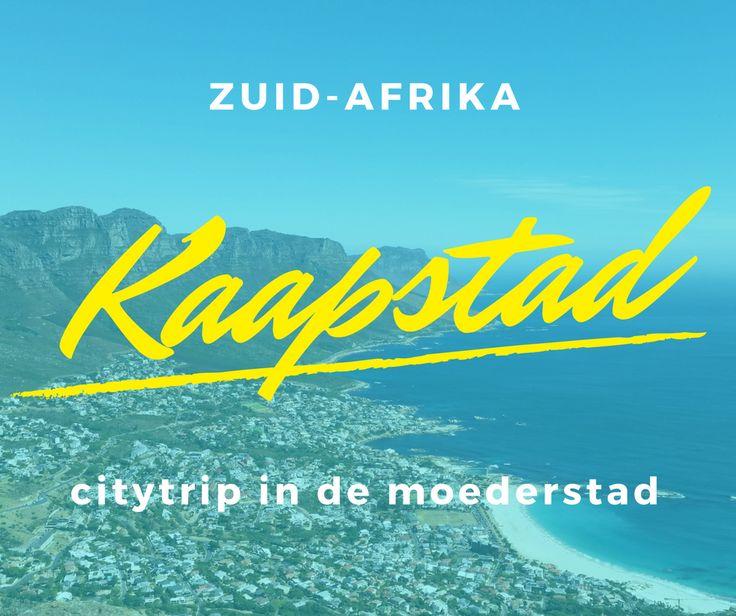 """Kaapstad, een citytrip in de moederstad van Zuid-Afrika. Kaapstad is een stad in Zuid-Afrika die ingesloten ligt tussen de Atlantische oceaan en de indrukwekkende Tafelberg. De stad die door Zuid-Afrikanen ook wel """"moederstad"""" genoemd wordt, is de hoofdplaats van de provincie West-Kaap en is gelegen in het zuidwestelijkste punt van Afrika.  De gezellige sfeer, de grappige Zuid-Afrikaanse taal en de mooie ligging zijn al enkele goede redenen om Kaapstad te bezoeken. Bovendien kan je er heel…"""