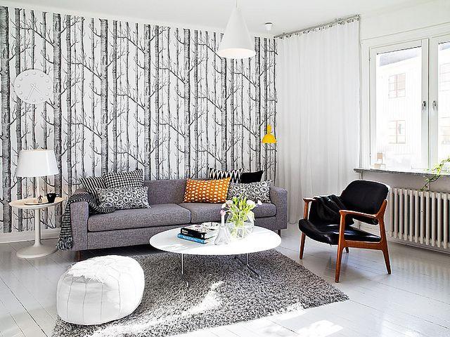 Cole & Son wallpaperScandinavian Living, Living Rooms, Modern Living, Living Spaces, Living Room Design, Livingroom, Interiors Design, Swedish Style, House