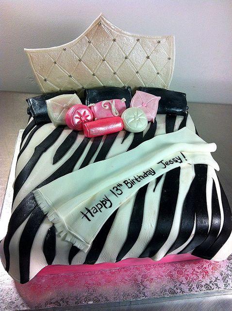 zebra print cakes | Zebra Print Bed Cake | Flickr - Photo Sharing!