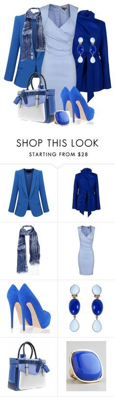 """blue mood"" by sagramora ❤ liked on Polyvore featuring Ted Baker, Faliero Sarti, Giuseppe Zanotti, Philippe Ferrandis, Reed Krakoff and Panacea"