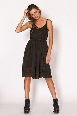 Amilita - Sienna Wrap Dress   black   summer   lace   pretty   dress   model   style   bohemian   Paved Paradise
