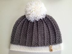 With Love by Jenni: Ribbed Women's Hat Pattern