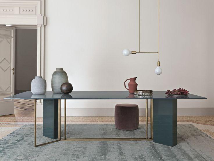Mesa de comedor rectangular PLINTO | Mesa rectangular by Meridiani