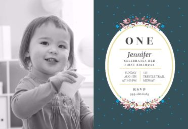 Birth flowers - First Birthday Invitation Template. Customize, add text and photos. Print, download, send online or order printed! #firstbirthdayinvitation #1stbirthdayinvitation #freefirstbirthdayinvitation #1stbirthdaytemplate #invitations #printable #diy #template #birthday #firstbirthday #1stbirthday #party