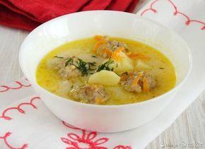 zupa serowa z klopsikami...