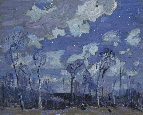 tom thomson - nocturne, the birches (1916)