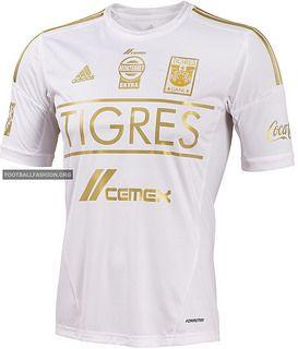 Tigres UANL adidas 2014 Third White Soccer Jersey, Football Kit, Camiseta Blanca de Gala