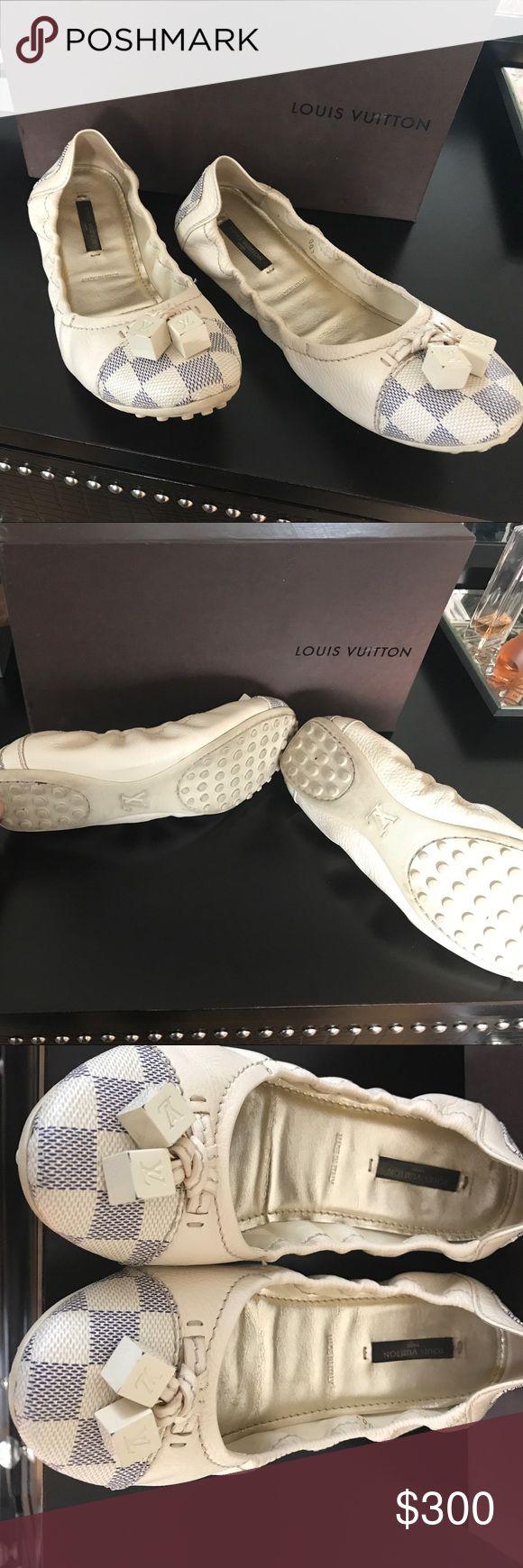 Louis Vuitton ballerina flats Louis Vuitton ballerina flats gently used Louis Vuitton Shoes Flats & Loafers