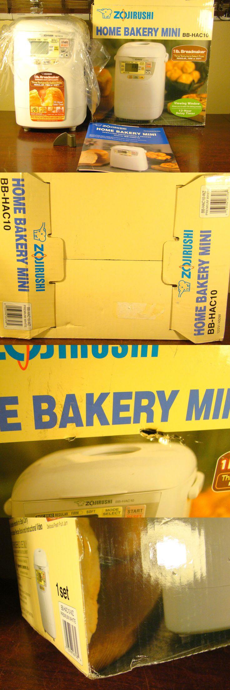 Bread Machines 20669: Zojirushi Bb-Hac10 Home Bakery Mini 1Lb. Breadmaker Bbhac10 *New Open-Box* -> BUY IT NOW ONLY: $174.99 on eBay!