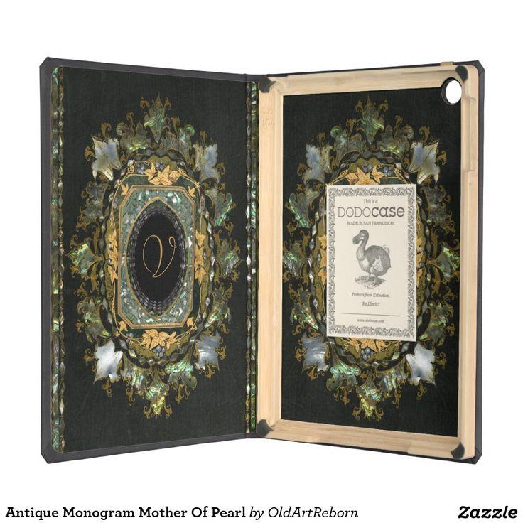Antique Monogram Mother Of Pearl iPad Air Cases