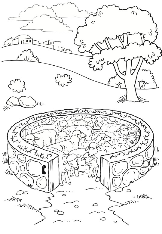 Beside Still Waters Psalm  Coloring Page For Kids