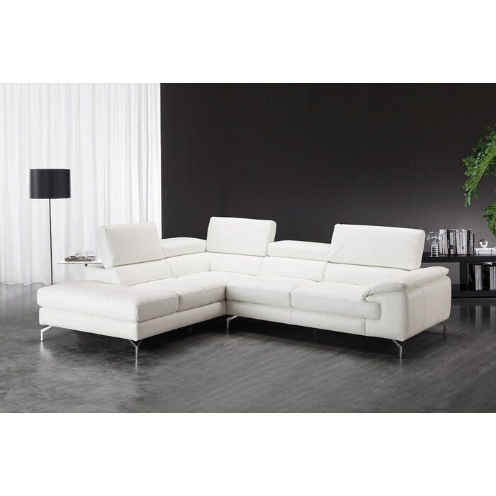 Beautiful Sectional Would Be Worried About Stains Though White Leather Sofas Leather Sectional Sofas Modern Sofa Sectional