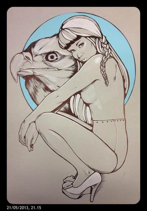 Drawing by Sofie Casparsen ART