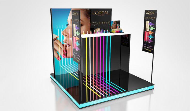 Differents corner made for L'Oréal Dubai