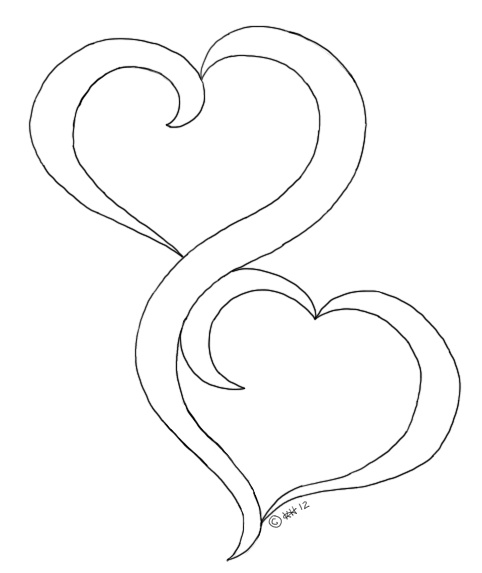 Oak pond digis, two hearts, good idea for a marriage card?