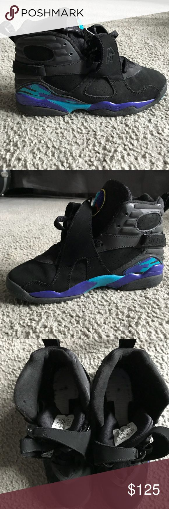 Air Jordan Aqua 8 (2007 release) Worn only a few times back in 2007.. they have been stored away for years. They are in amazing condition only problem is they are missing the insole and the original box. Air Jordan Shoes Sneakers
