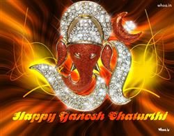 Happy Ganesh Chaturthi Statue Of Diamond, Ganesh Chaturthi Greetings, Ganesh Chaturthi Fb Covers, Ganesh Chaturthi Images For Facebook