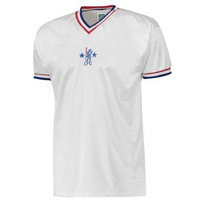 Chelsea 1982 Third Shirt - White: Chelsea 1982 3rd Shirt - White Worn by Chelsea Players of… #ChelseaShop #ChelseaStore #ChelseaFC #Chelsea