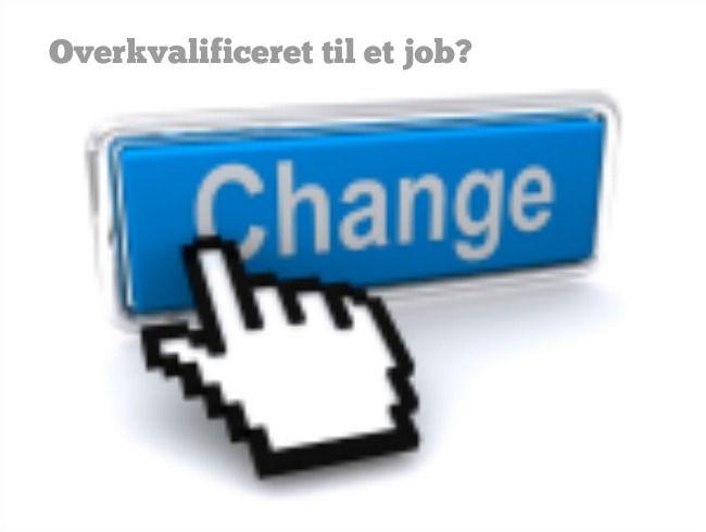 Har du oplevet at få at vide, at du er overkvalificeret til et job? De kandidater jeg har i spil - er meget lidt glade for min ærlighed, når jeg interviewer dem og det er et faktum. Så her et par gode råd til, hvordan du kommer intervieweren eller situationen på forkant, hvis du søger job, du måske er lidt for kompetent til. God fornøjelse. http://bettinawaede.dk/blog/2014/12/hvad-goer-du-hvis-du-er-overkvalificeret-til-et-job/