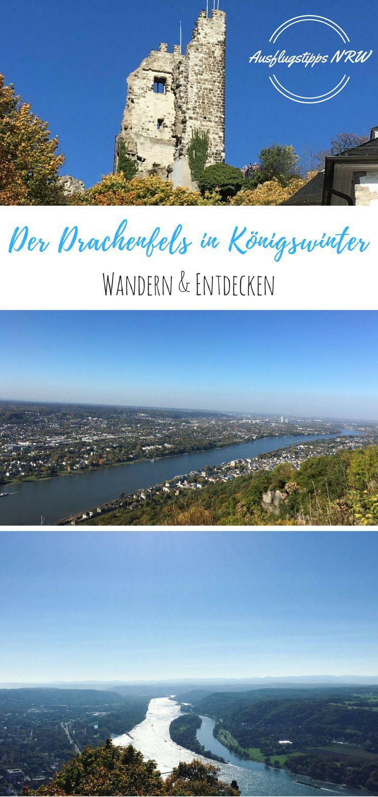 Ausflugsziele in NRW: Ausflugstipp gesucht? Ich kann euch den Drachenfels in Königswinter empfehlen. Kurzweilige Wanderung und eine tolle Aussicht auf den Rhein bei Bonn. Ihr müsst auch nicht wandern, es fährt auch eine Bahn nach oben. Zu sehen gibt es Schloss Drachenburg, das Drachenfelsplateau und die Drachenfelsruine. Hier könnt ihr bis ganz oben steigen und die Aussicht genießen.