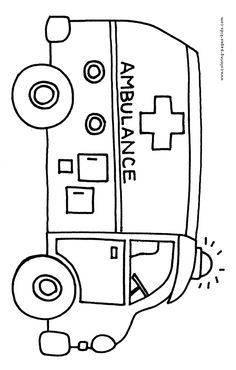 ambulance coloring pages coloring pages and sheets can be found in the bus color page. Black Bedroom Furniture Sets. Home Design Ideas