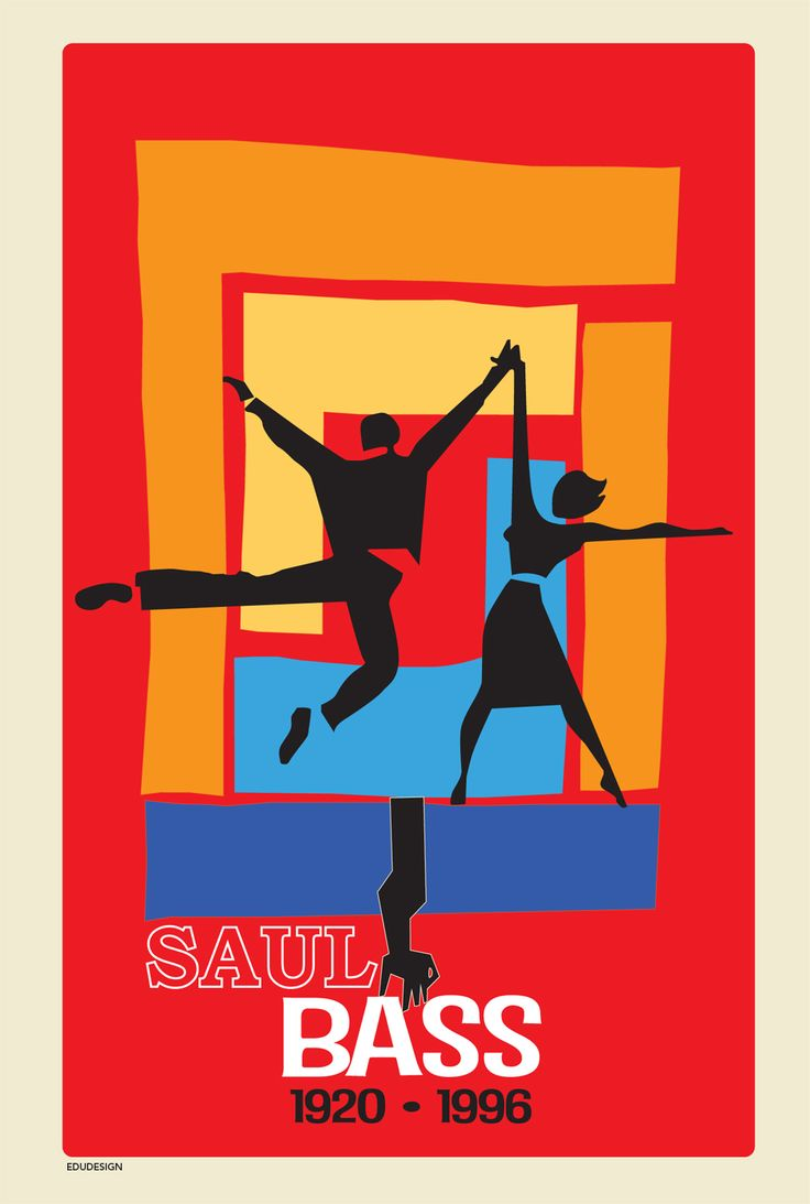 Saul Bass poster tribute redesined by Edudesign