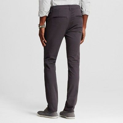 Chor Men's Slim Fit Stretch Tapered Chino Pants - Charcoal (Grey) 29x30