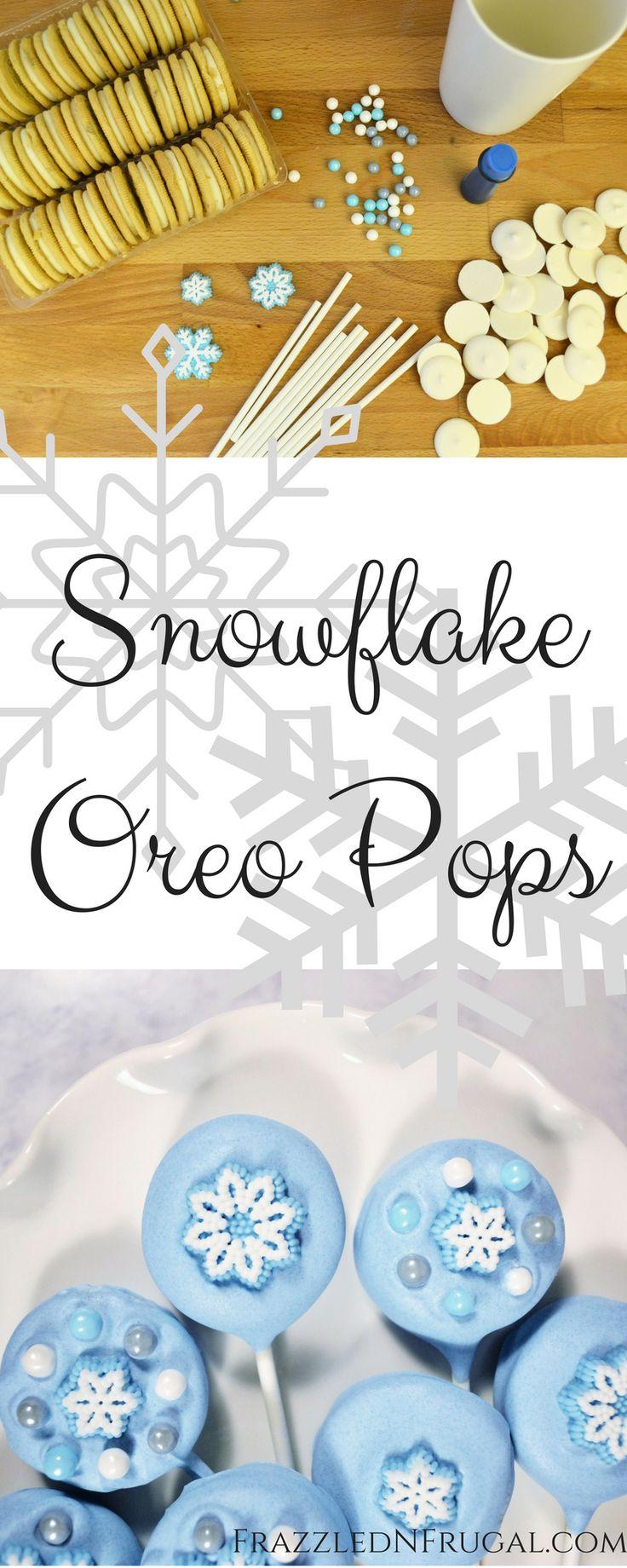 Snowflake Oreo Pops