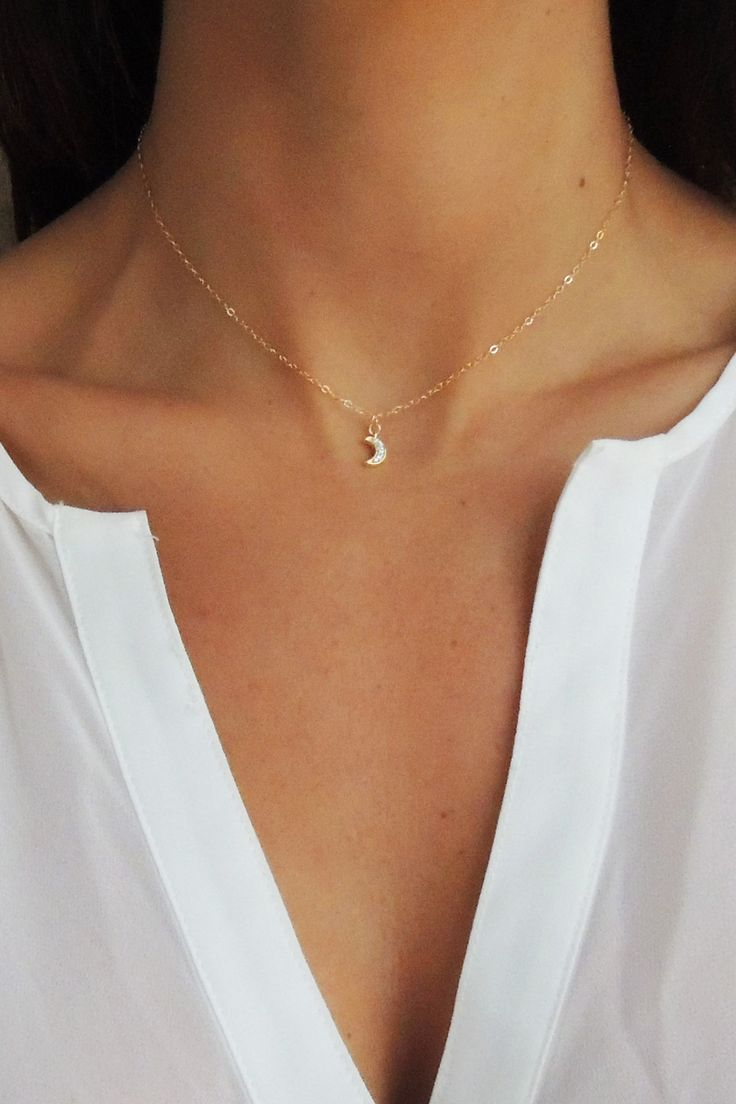 17 best ideas about tiny necklace on gold