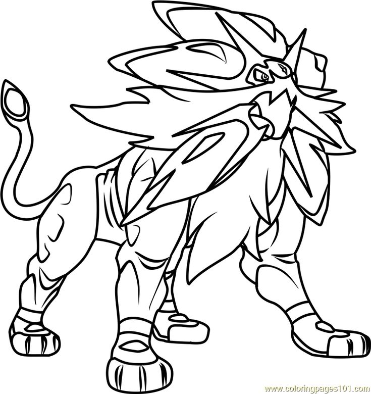 Pokemon Sun And Moon Ice Coloring Pages