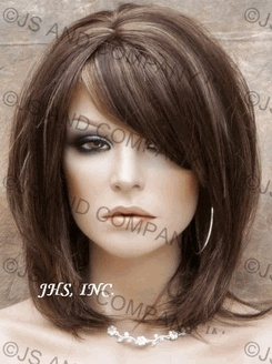 love the bangs on the cut hair-and-makeup