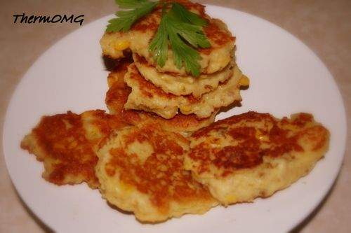 Chicken Cheese and Corn Fritters — ThermOMG