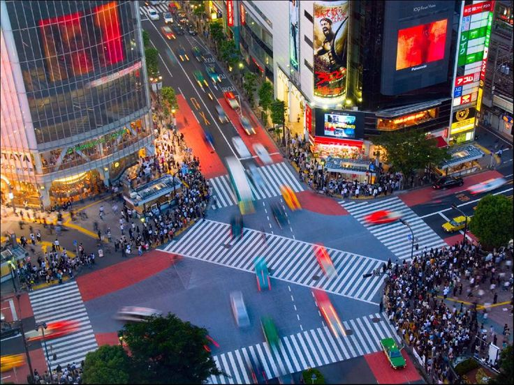 The famous crossing in Shibuya of Tokyo shows the perfect example of all direction pedestrian crossing, making transporting pedestrians across different blocks more efficiently, and allows free flow throughout.   W10 - City Conditions and Strategies