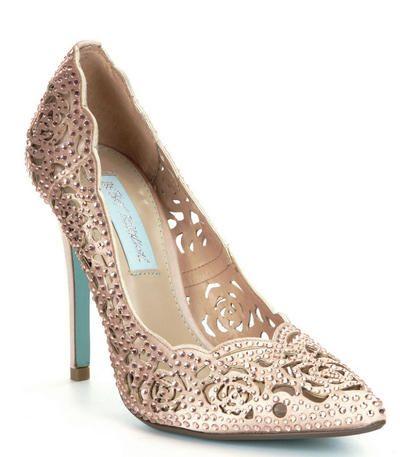 Betsey Johnson at Estelle's Dressy Dresses in Farmingdale, NY #shoes #glam #heels #pumps #highheels #sparklyshoes #glitter
